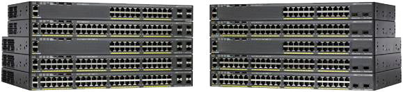 Figure 1.  Cisco Catalyst 2960-X Series Switche